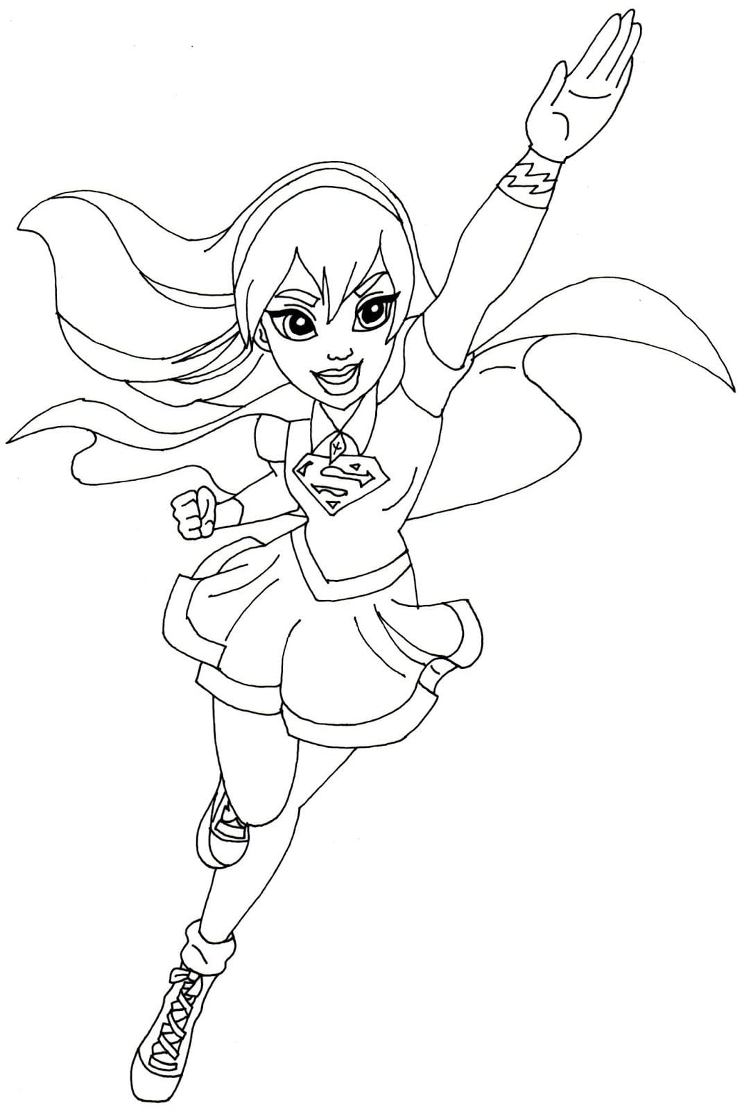 Free Printable Super Hero High Coloring Page For Supergirl Below