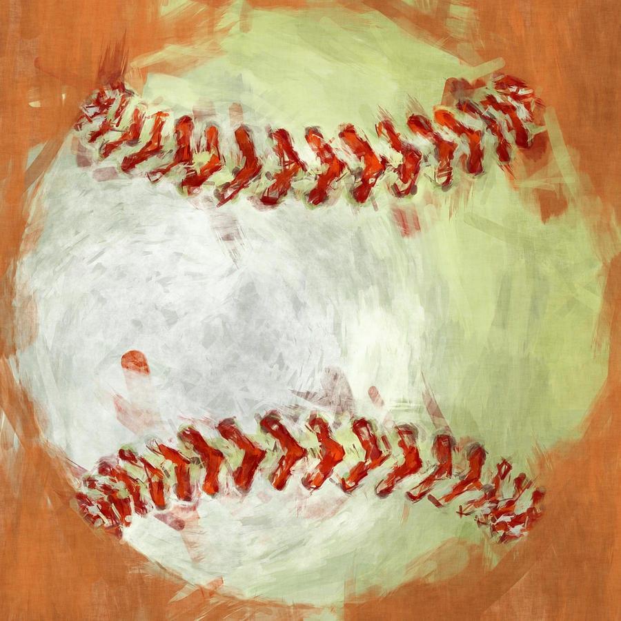 Abstract Baseball Photograph By David G Paul