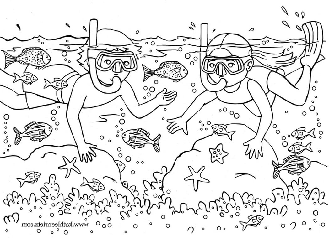 Advice Summer Coloring Sheets Pages Pdf With Summertime