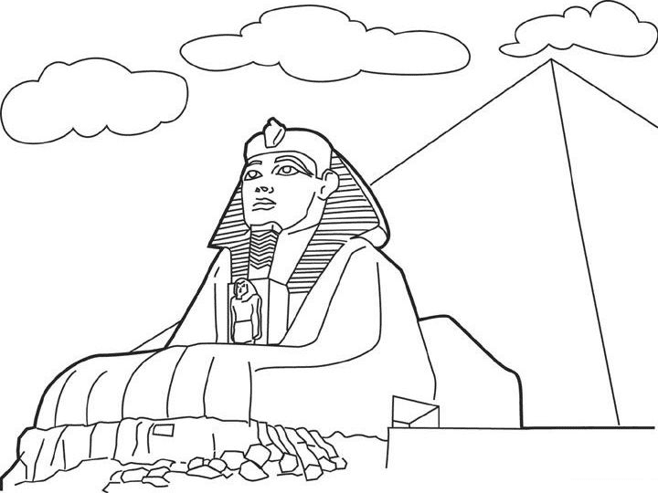Ancient Egypt Cartoon Coloring Page