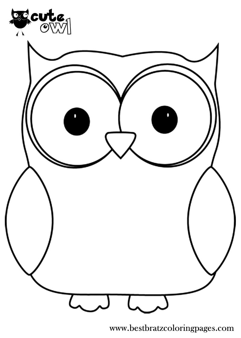 Announcing Outline Of An Owl Printable Coloring Pages For Kids On
