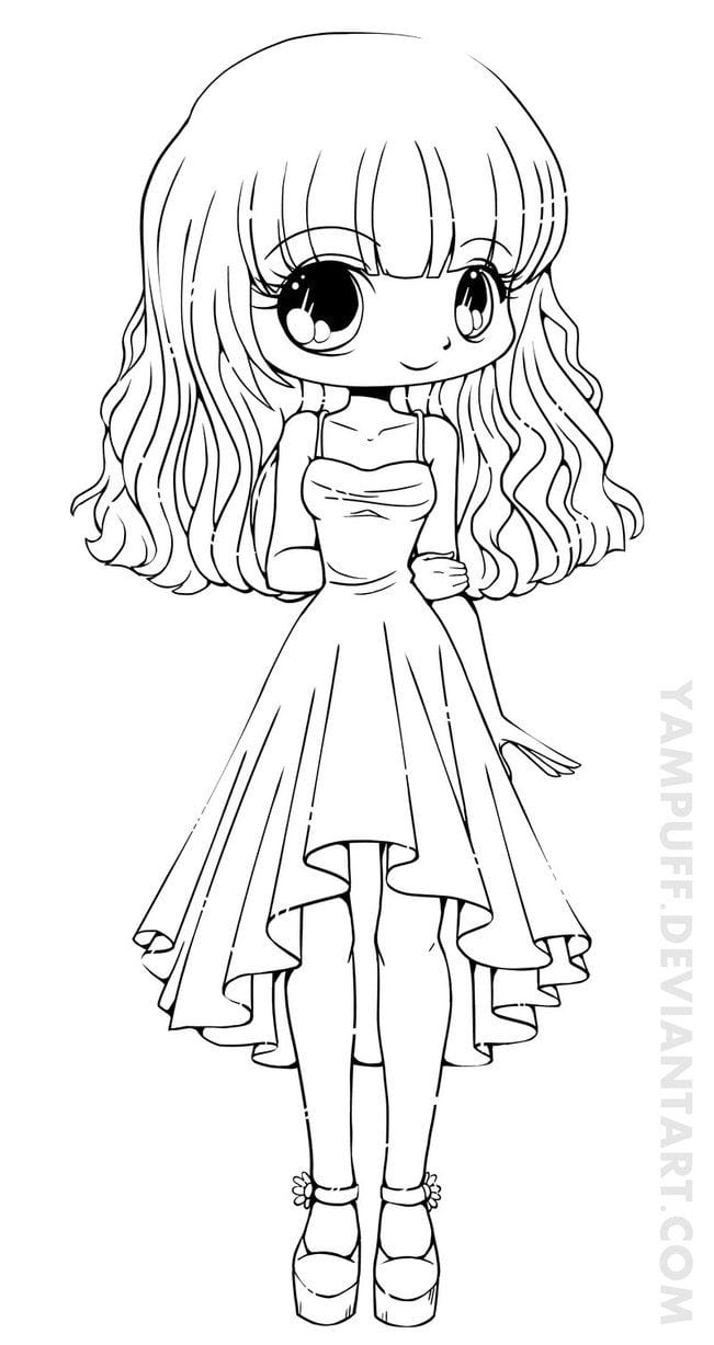 Art Girl Boy Or On Chibi Coloring Pages
