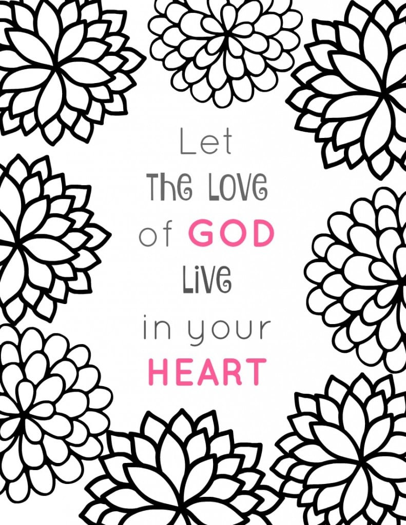 28+ Collection Of Bible Love Coloring Pages