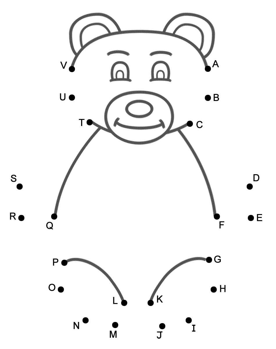 Image Result For Bear Dot To Dot Capital Letters