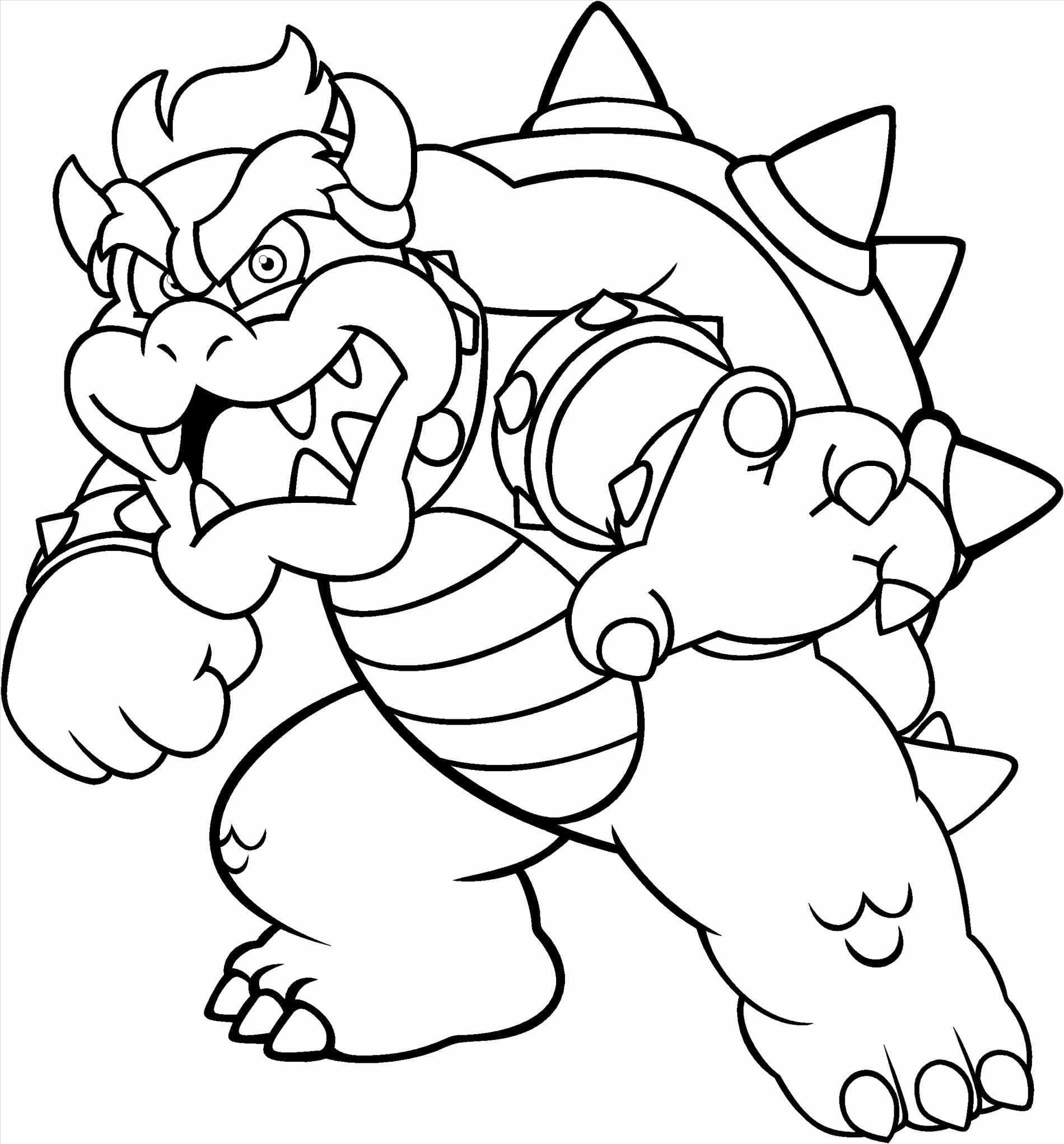 Bowser Coloring Pages Free At