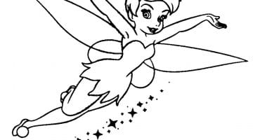 Free Tinkerbell Coloring Pages