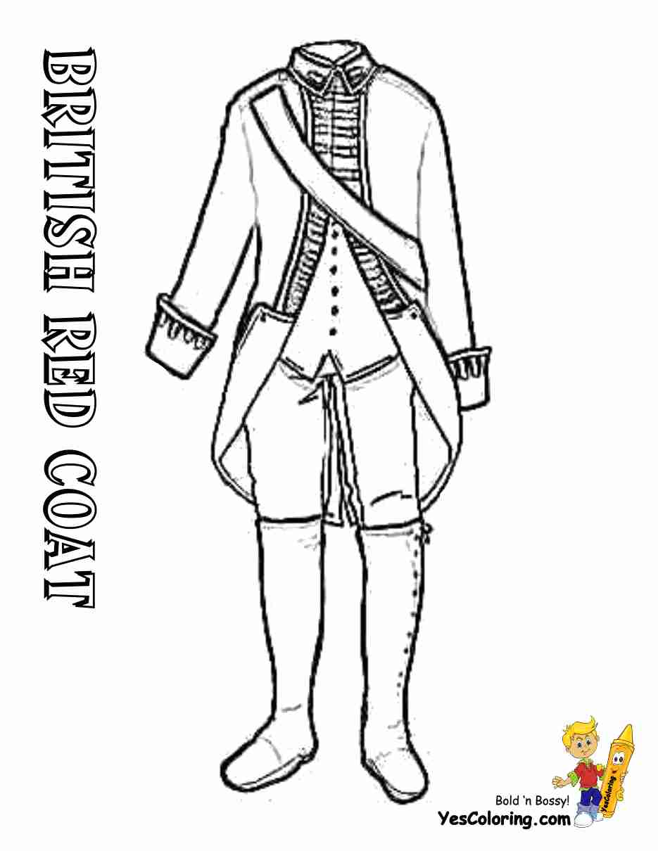 For Revolutionary War Coloring Pages