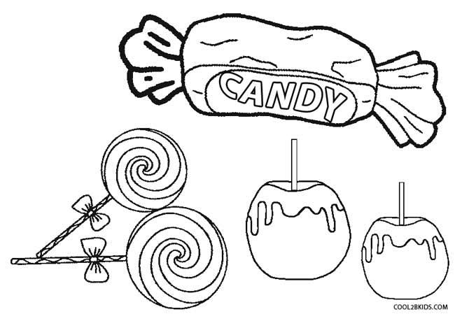 Candy Coloring Page 97 With Candy Coloring Page