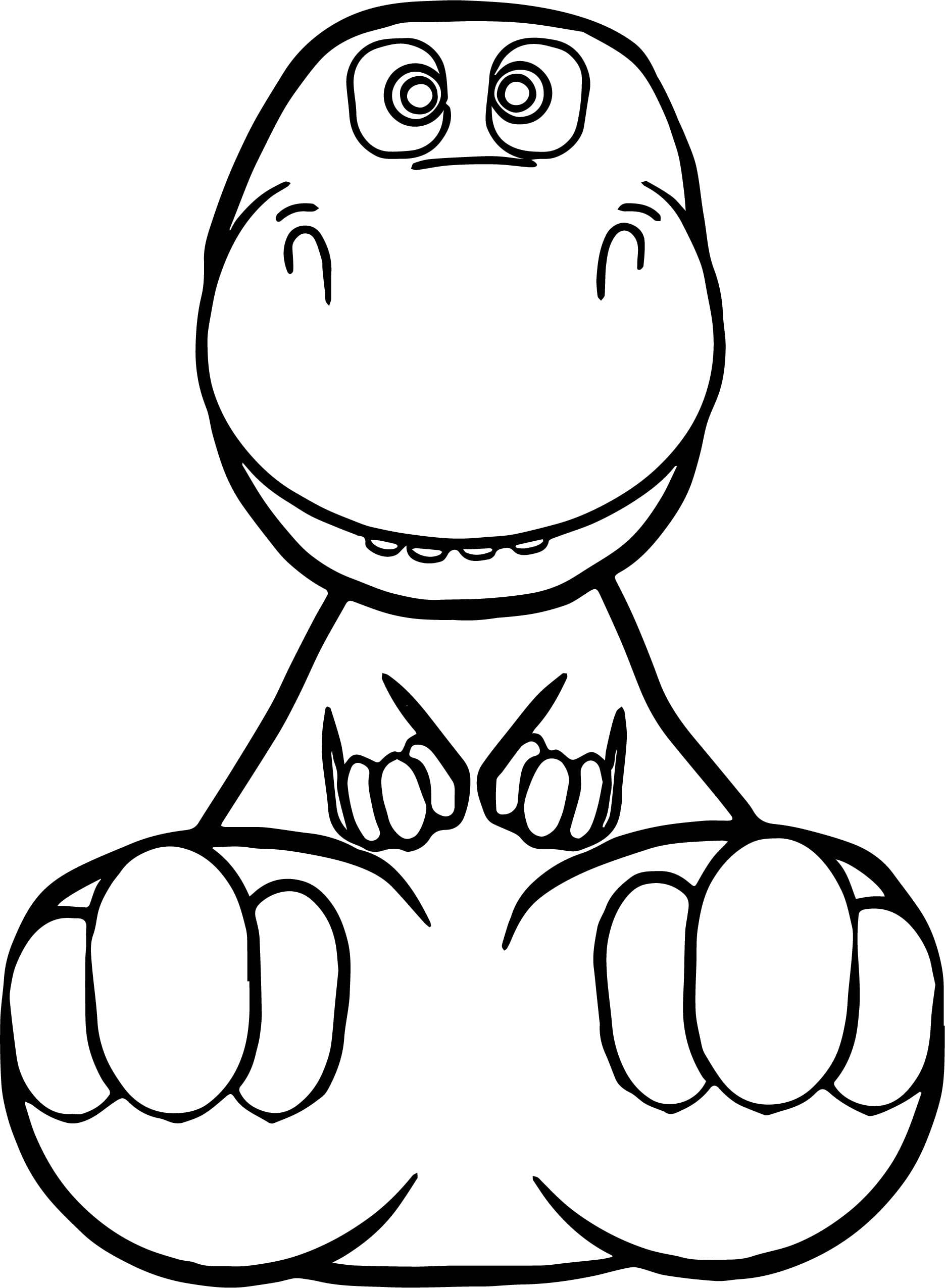 Cartoon Dinosaur Coloring Pages 20 T Baby Tips Cute And Cuddly