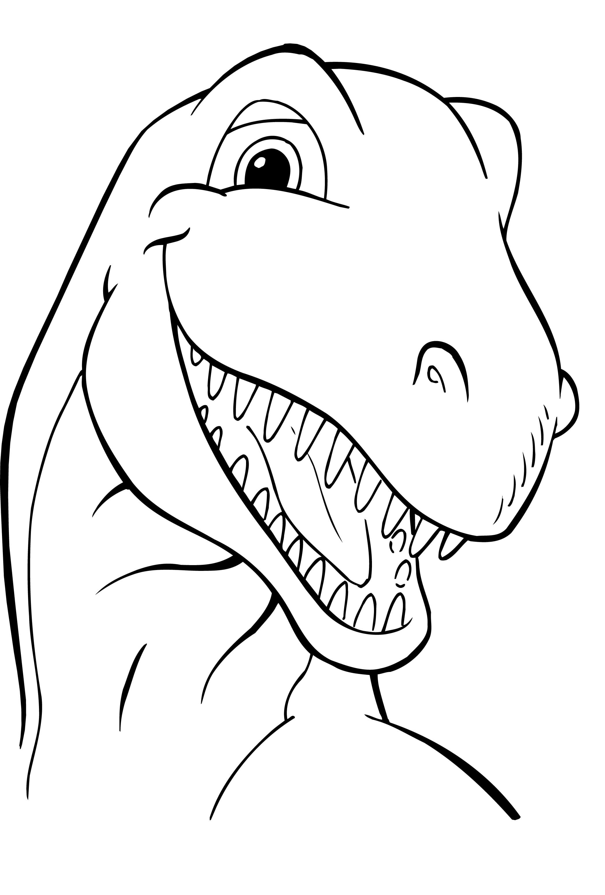 Cartoon Dinosaur Coloring Pages 56 With Cartoon Dinosaur Coloring
