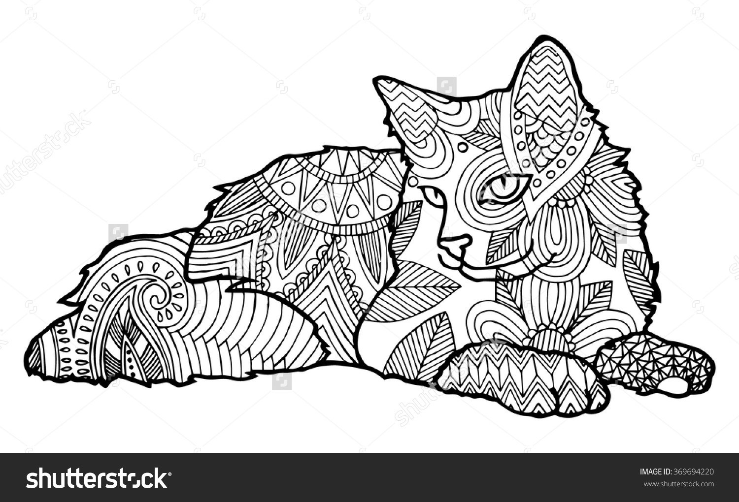 Endorsed Cat Coloring Pages Free Large Images 2846 In For Adults