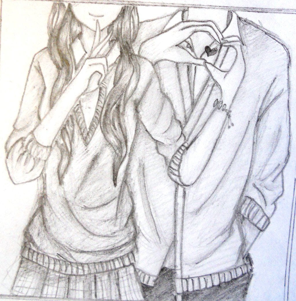 Couple Drawing Anime Photos  Easy Anime Couples Drawings In Pencil