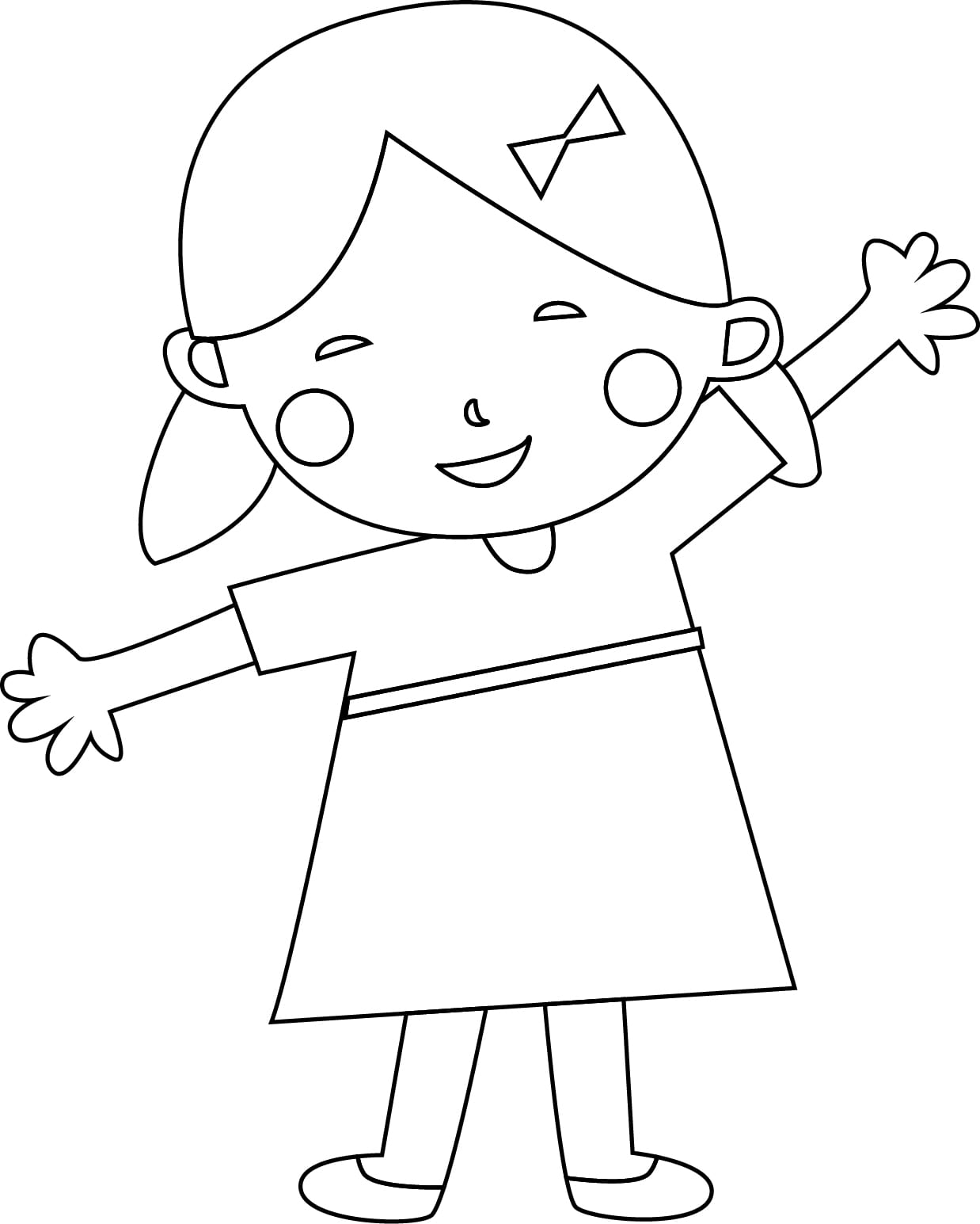 Child Coloring Pages Child Coloring Page