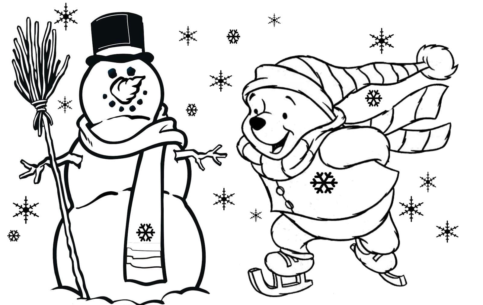 Toddler Christmas Coloring Pages Free Coloring Library