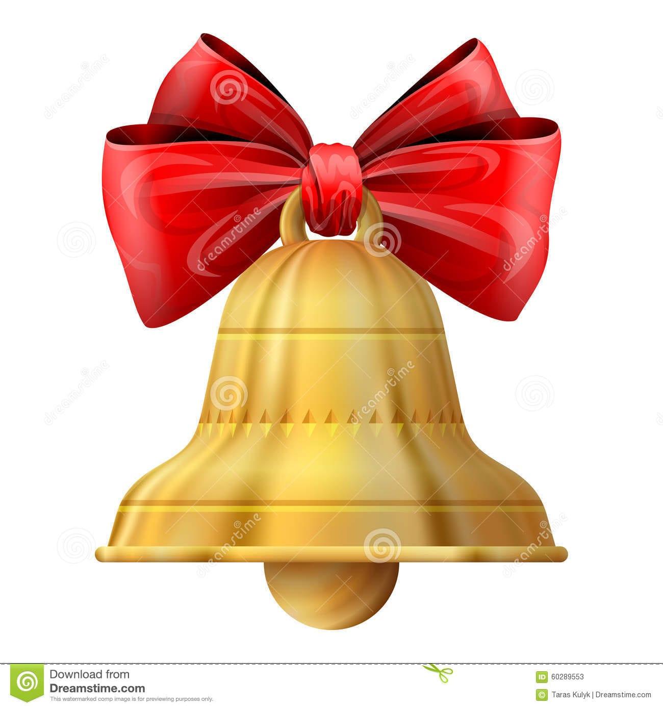 Christmas Bell On White Background Stock Vector