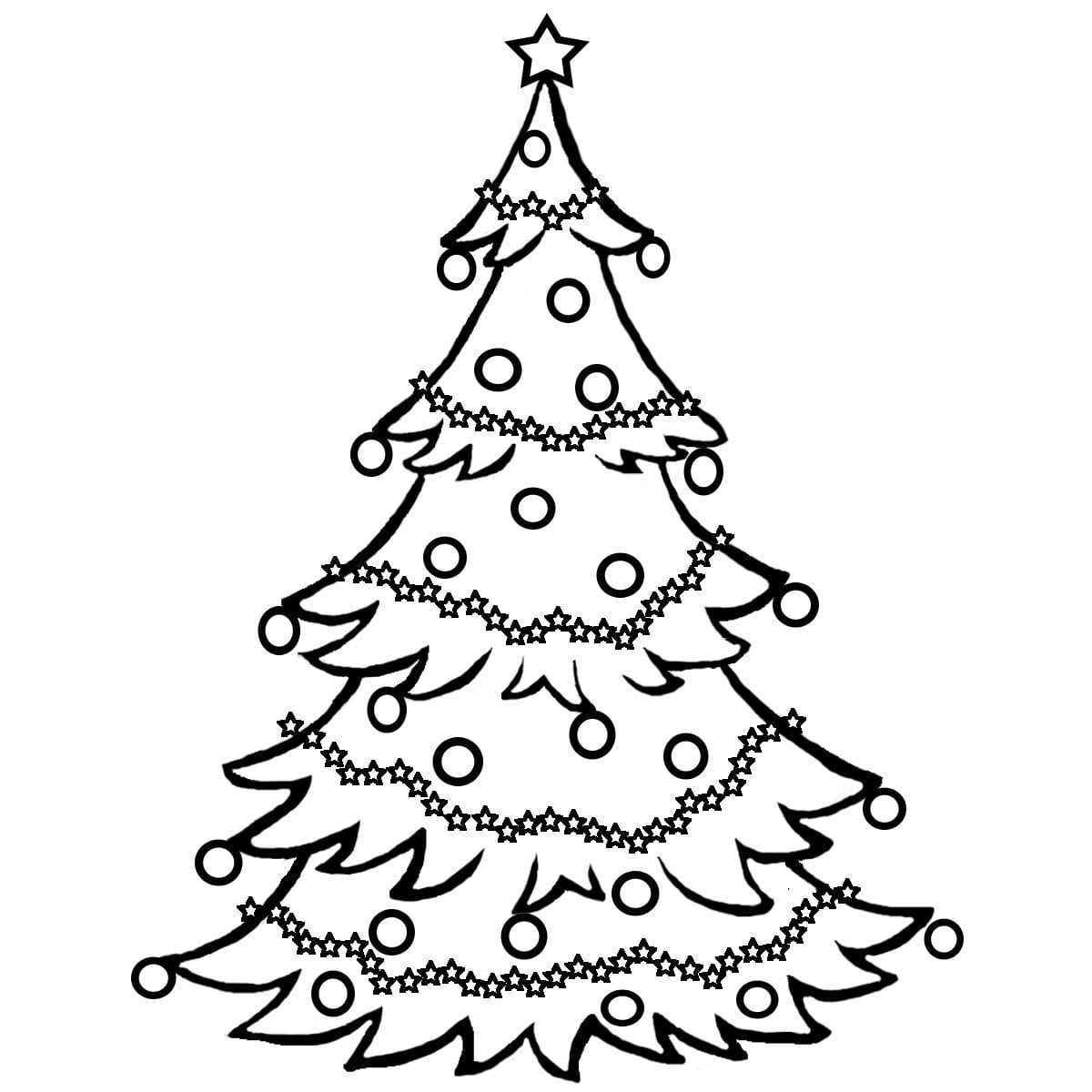 Christmas Tree Coloring Page Free Color Rallytv Org With