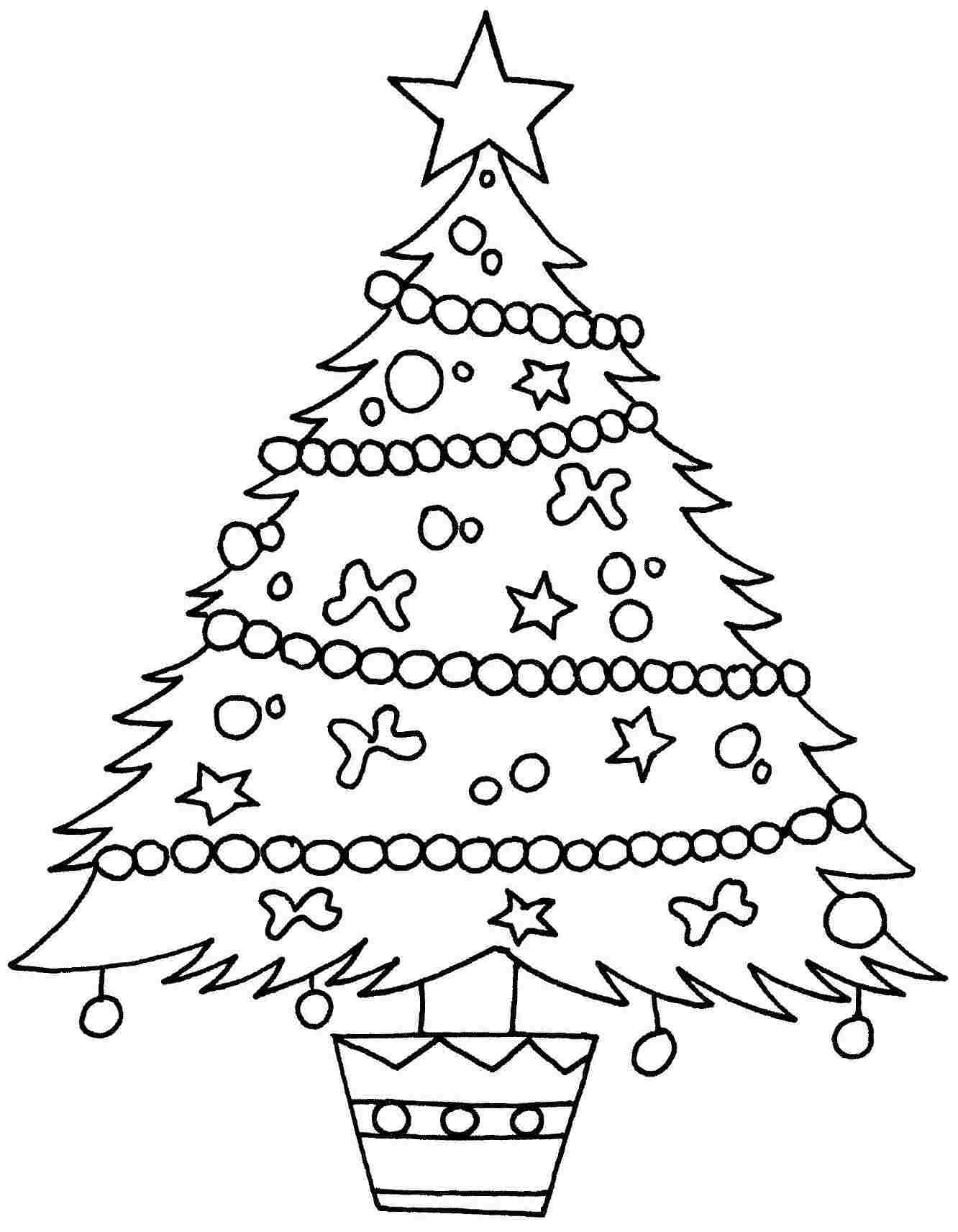 Christmas Tree Coloring Page 04 Trees Pages Rallytv Org In