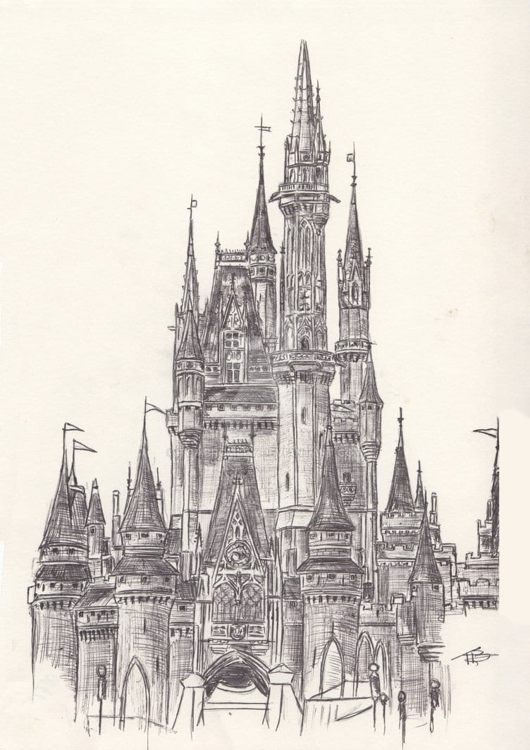 Cinderella Castle Drawing At Getdrawings Com