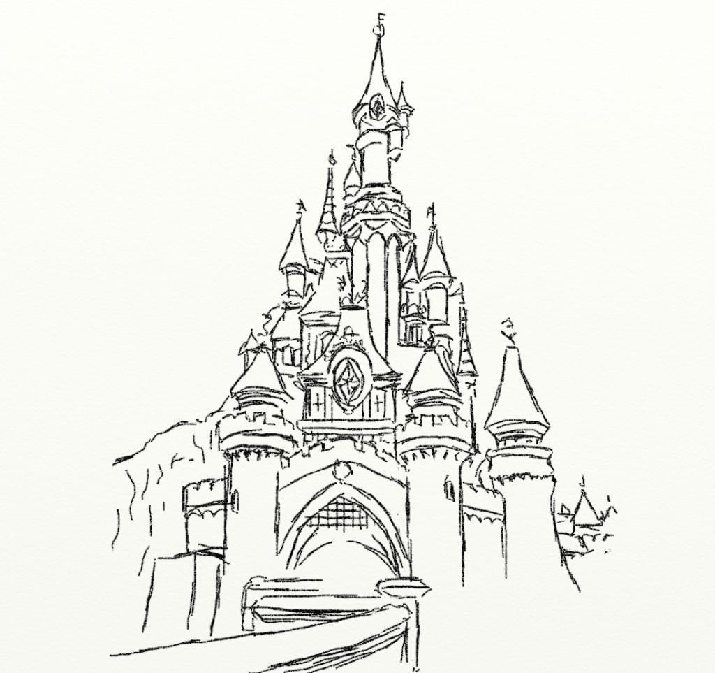 Cinderella Castle Drawing Cinderella Castle Drawing Disney Castle
