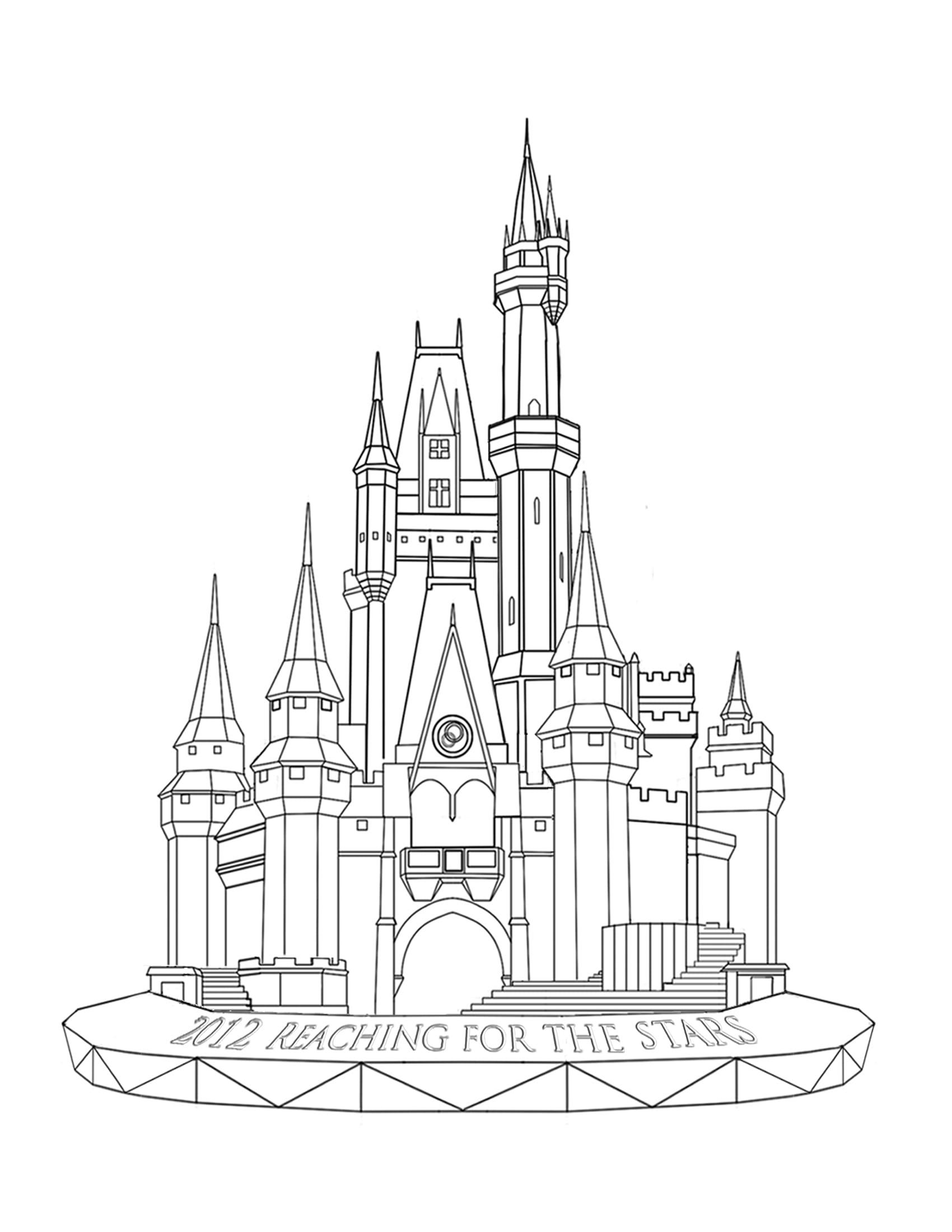 Cinderella Castle Sketch Cinderella Castle Drawing Cinderella's