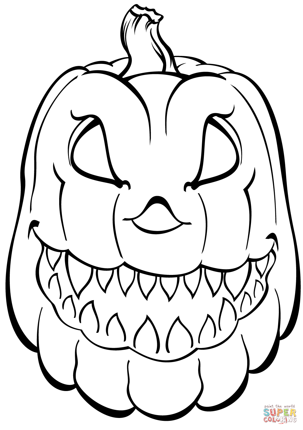 Coloring Book And Pages 46 Fabulous Halloween Pumpkin 12