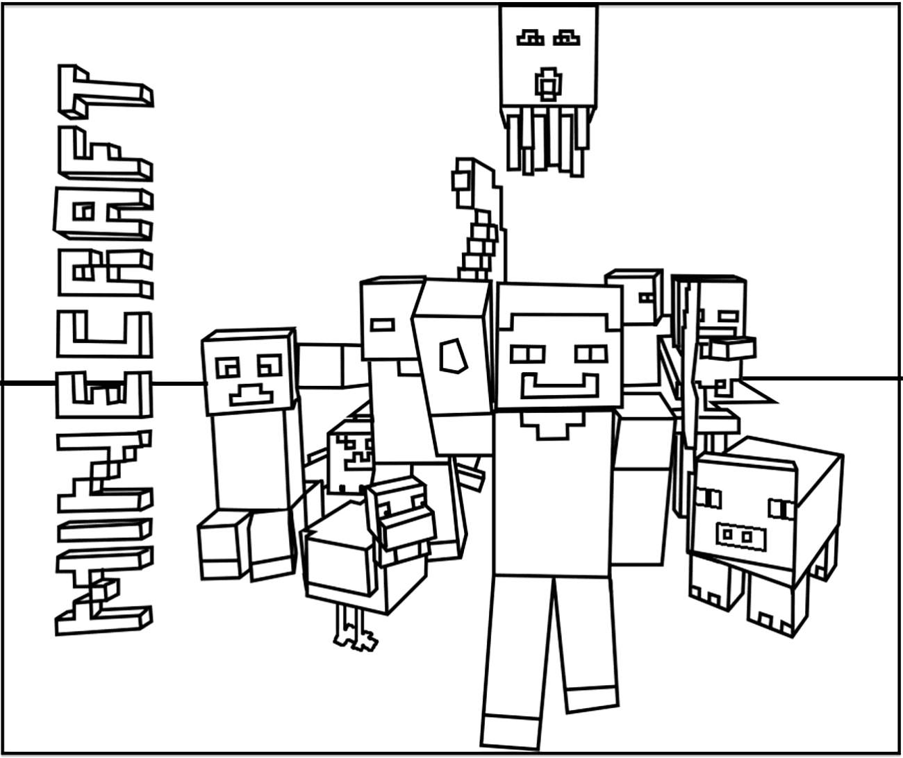 Minecraft Free To Color For Kids