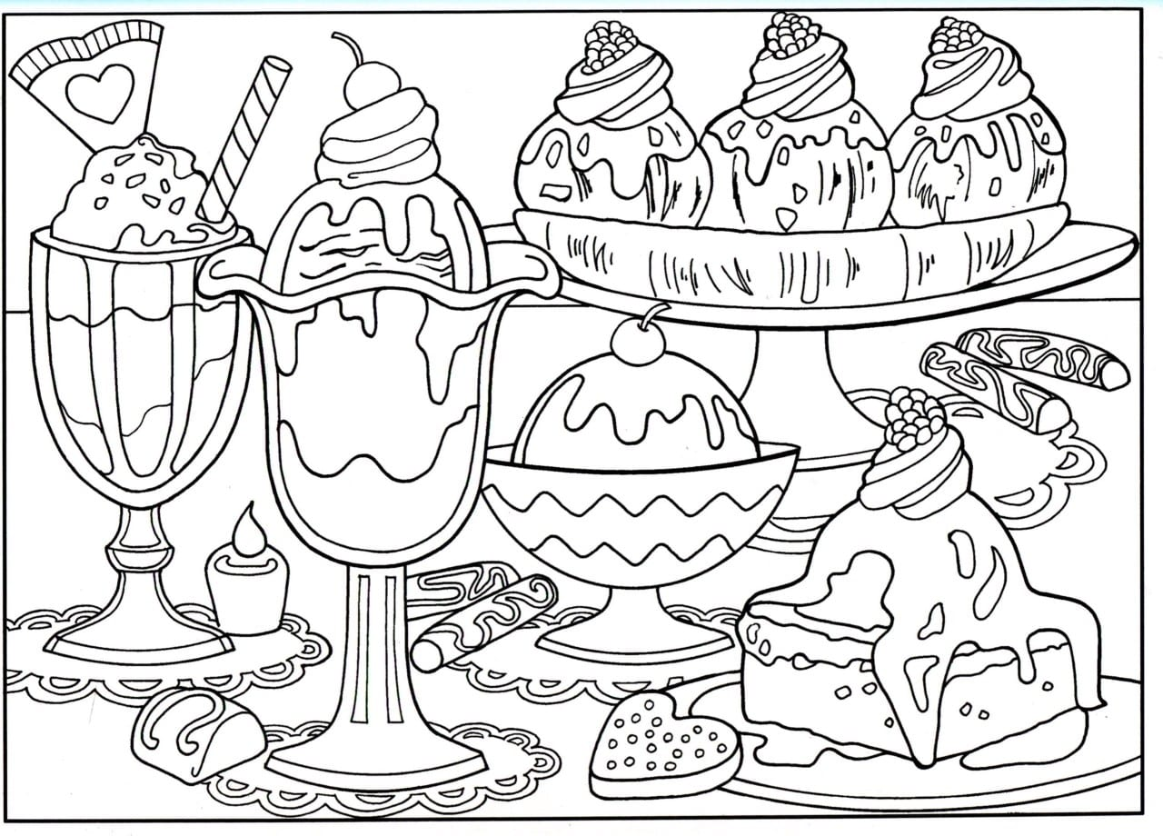 Coloring Pages Food 40 With Lapes Org Inside