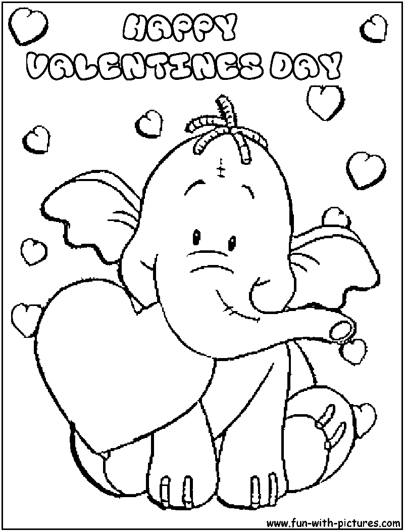 Coloring Pages Free Printable Valentine Day For