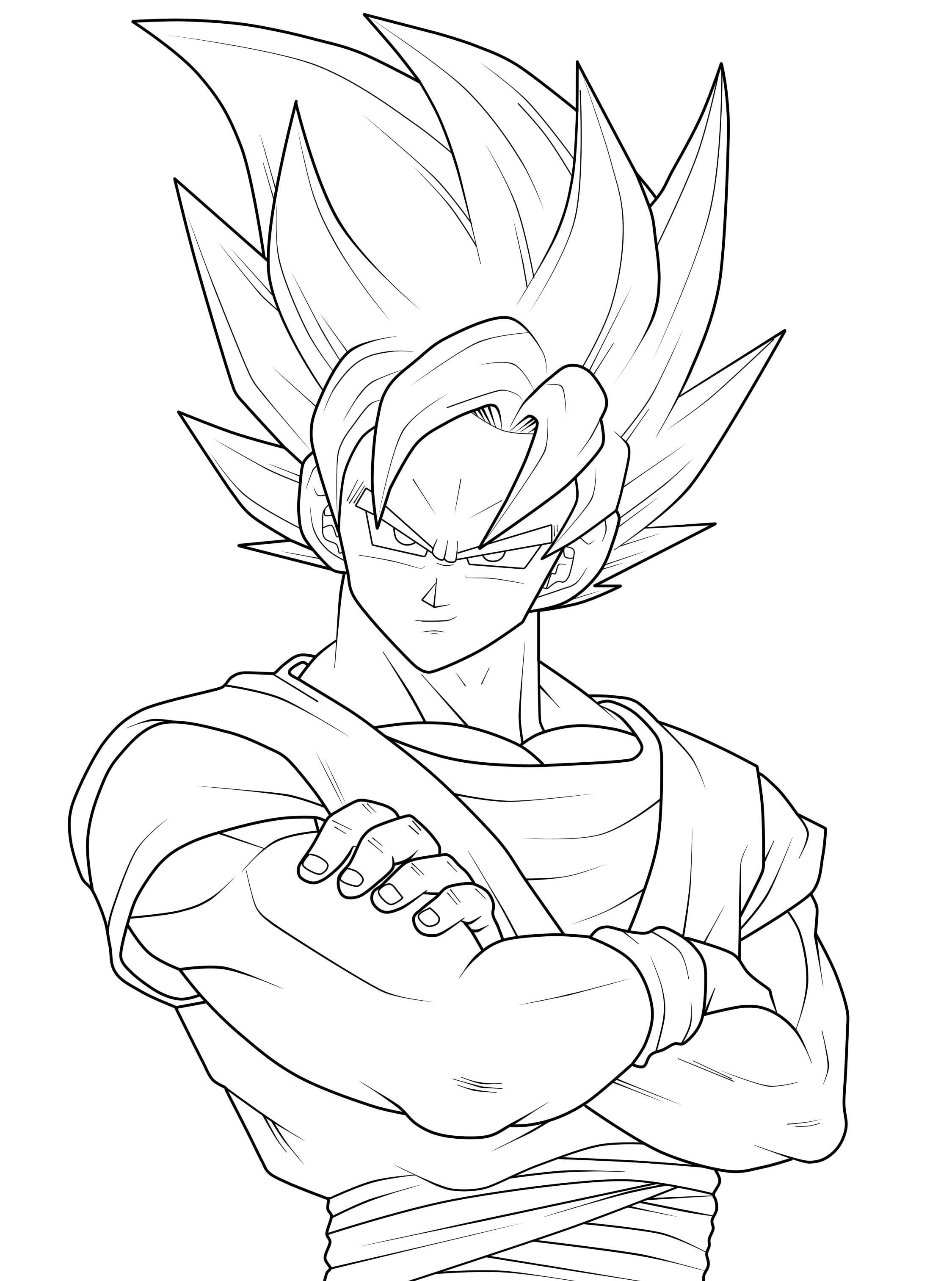 Goku Coloring Pages Fresh Super Saiyan Copy Within