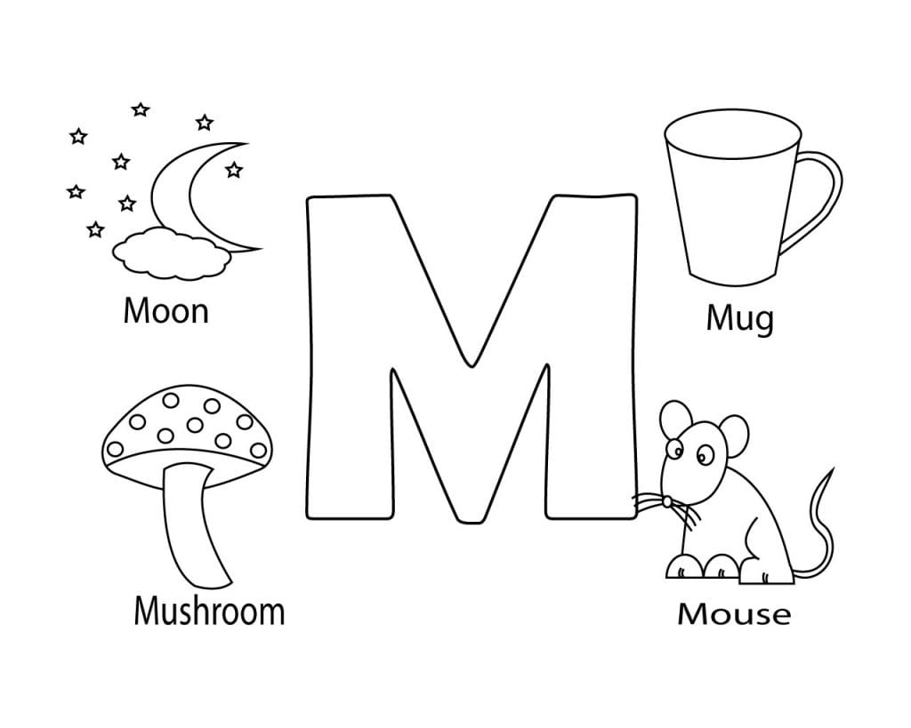 Free Printable Letter M Coloring Page Letter M Coloring Pages