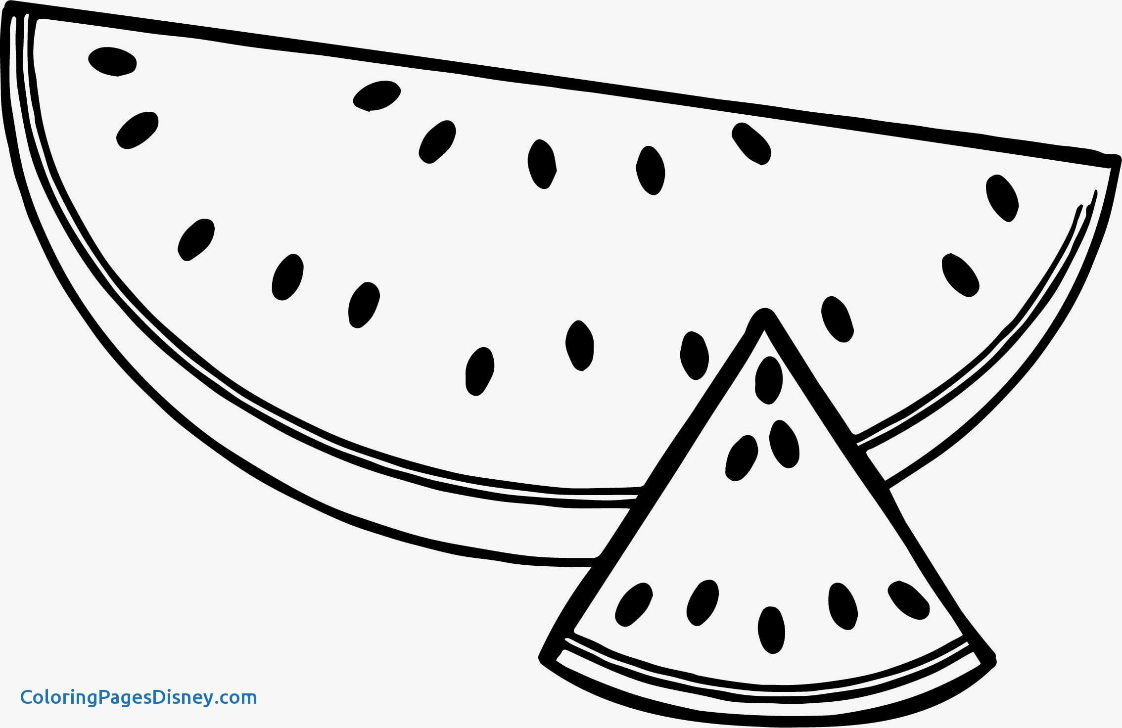 Watermelon Coloring Pages 6 With Watermelon Coloring Page