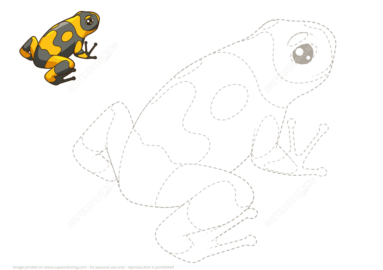 Connect The Dots To Draw A Frog