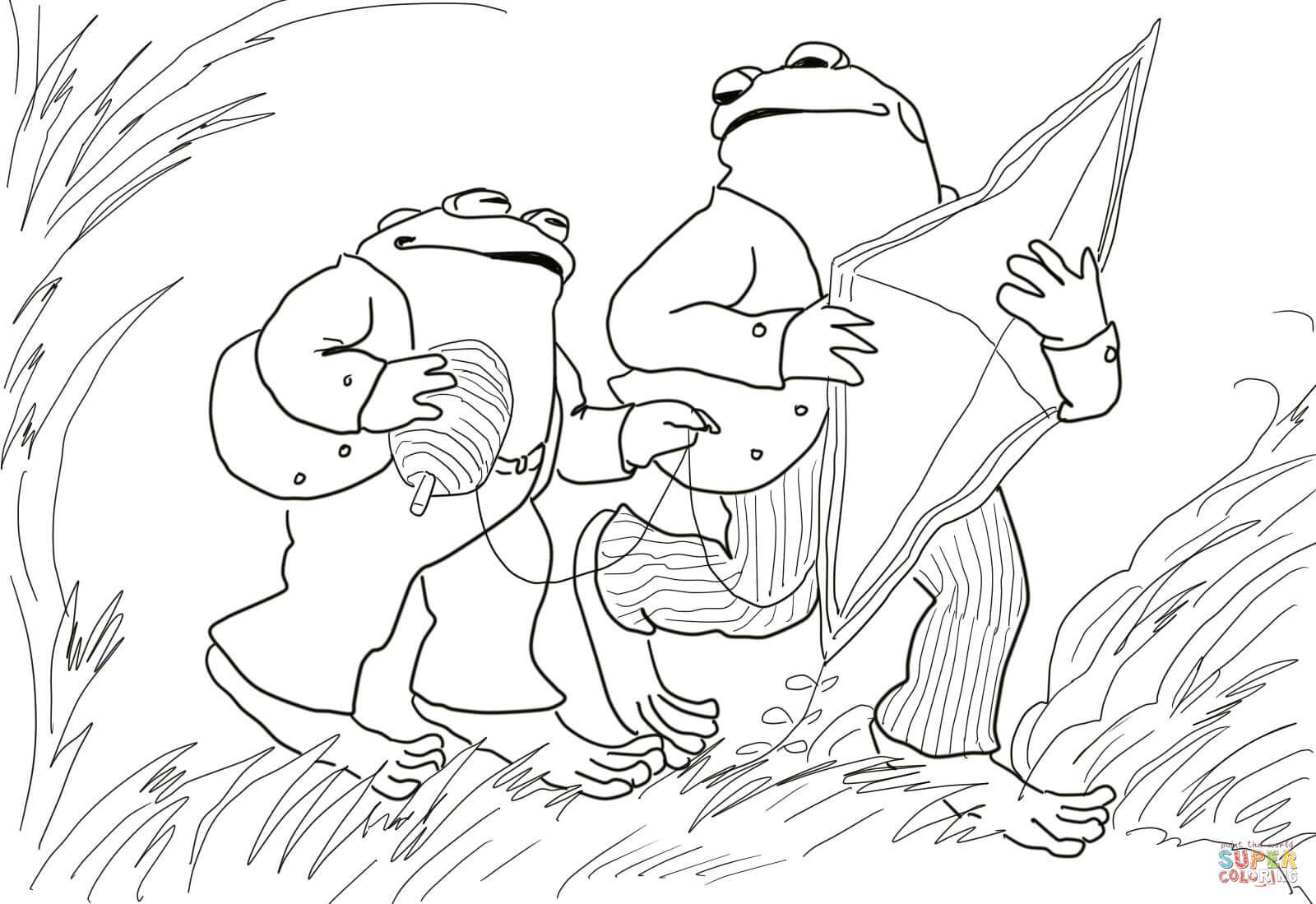 Days With Frog And Toad Coloring Page