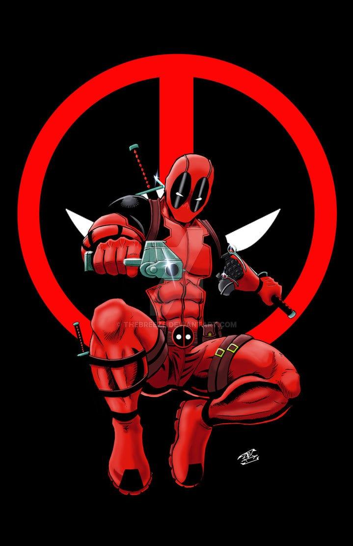 Deadpool Print Logo Version By Thebreeze On Deviantart