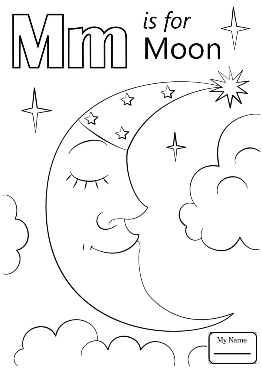 Delivered Letter M Coloring Page Asl Sign Language Letters And