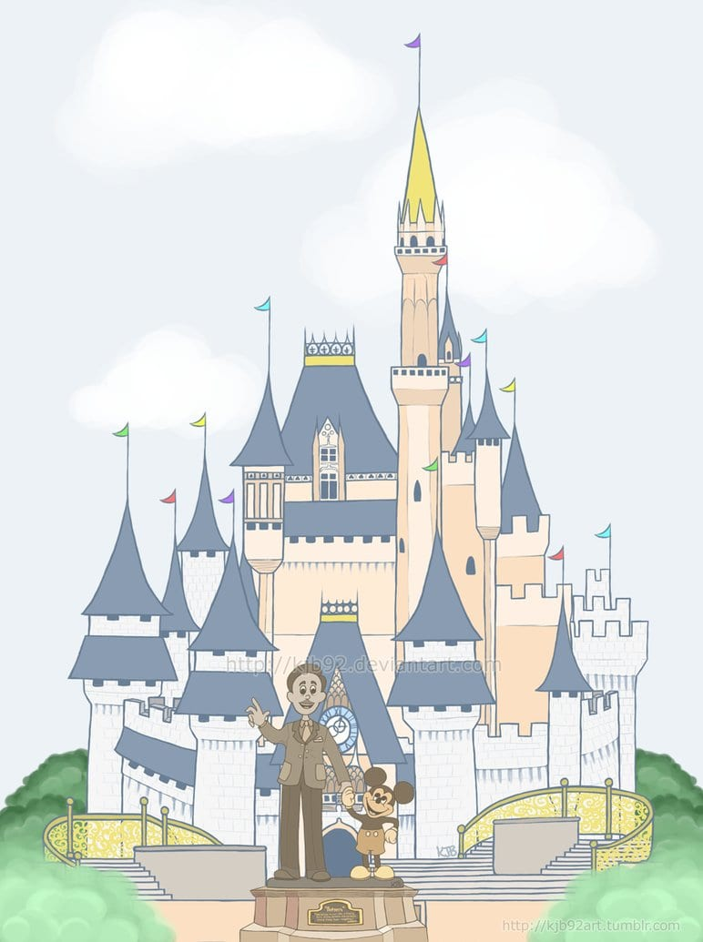 Disney Castle Drawing Step Step At Getdrawings Com