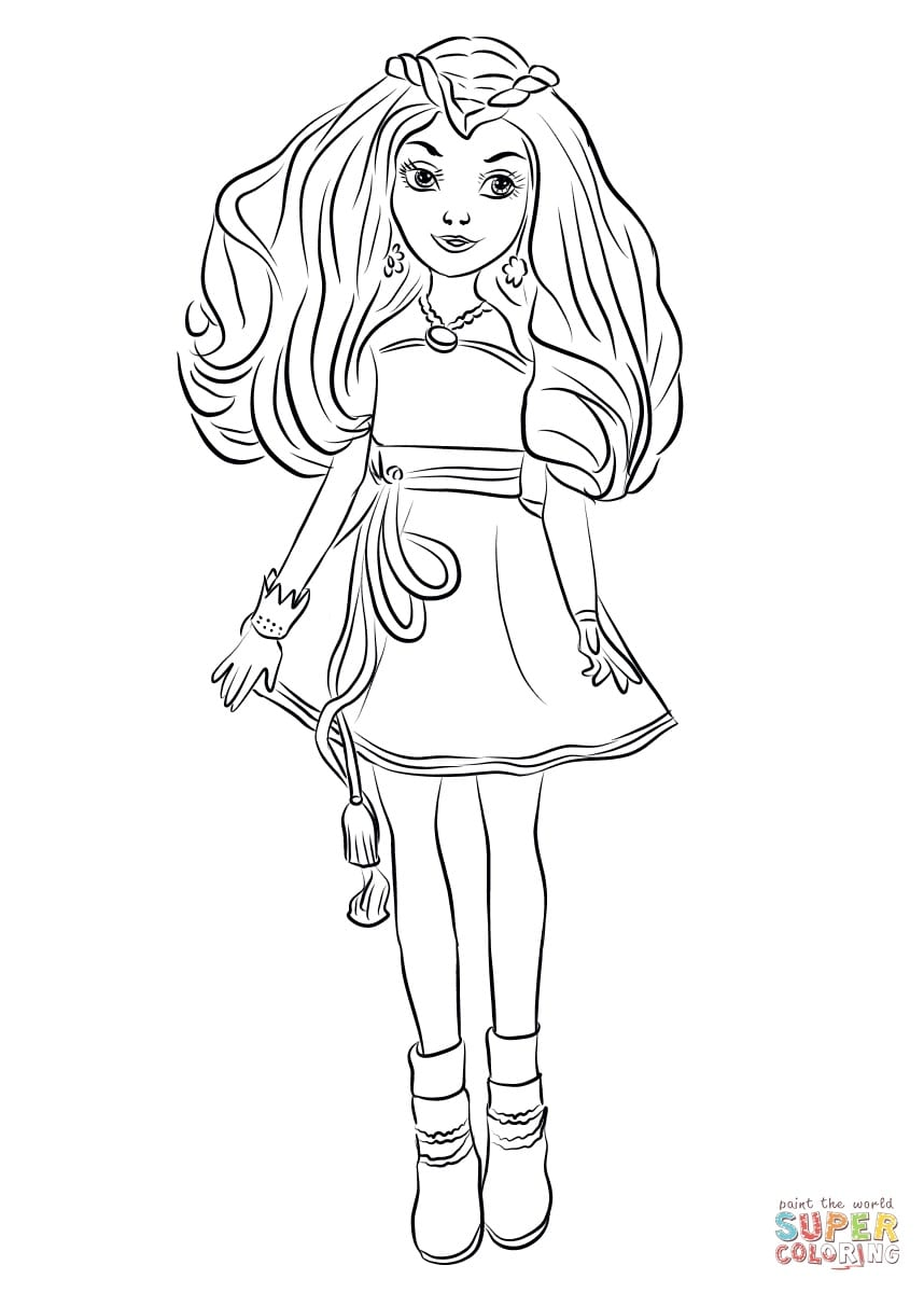 Inspirational Free Coloring Pages Disney Descendants – Coloring