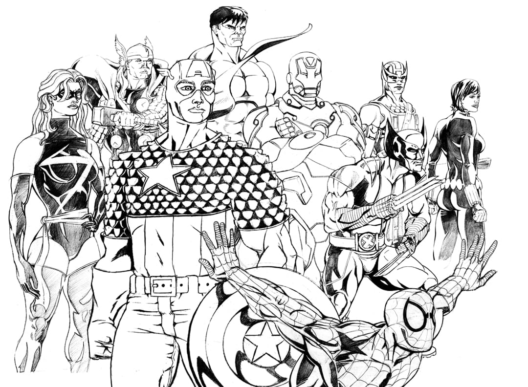 Download Marvel Superhero Coloring Pages And Capricus Me  10578