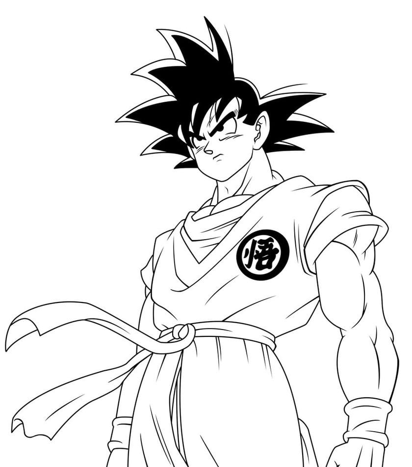 Scarce Kid Goku Coloring Pages Dbz And