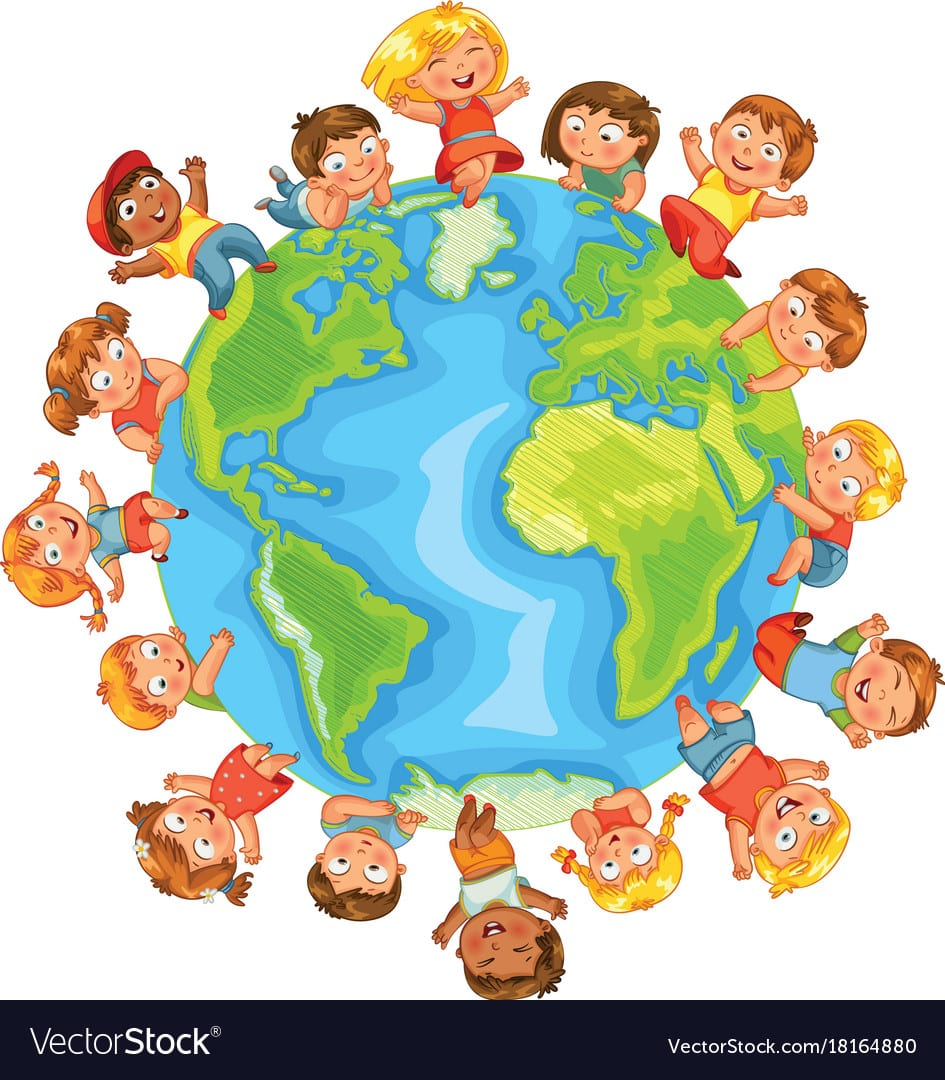 Earth Day Cute Little Kids Royalty Free Vector Image