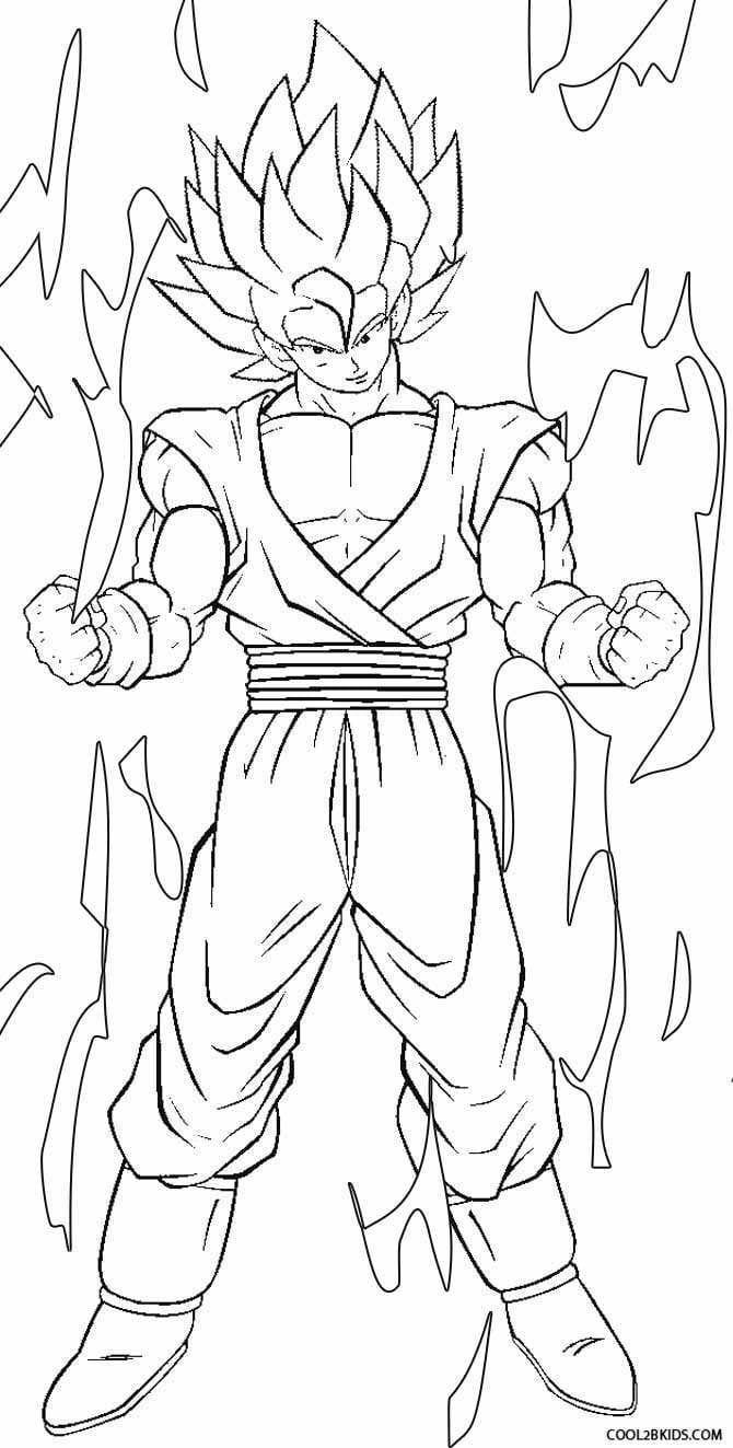 Exploit Goku Coloring Pages Printable For Kids Cool2bkids Cartoon