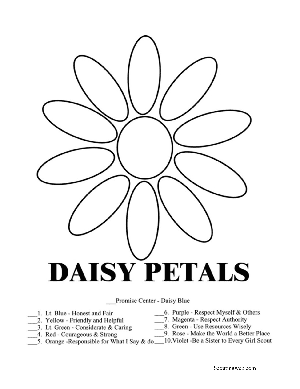 Fantastic Daisy Girl Scouts Coloring Pages 57 For With Daisy Girl