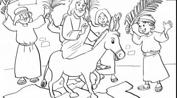 Religious Easter Coloring Sheets