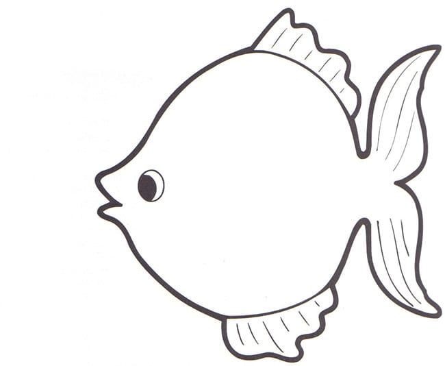 Fish Outline Fresh Template Coloring Page