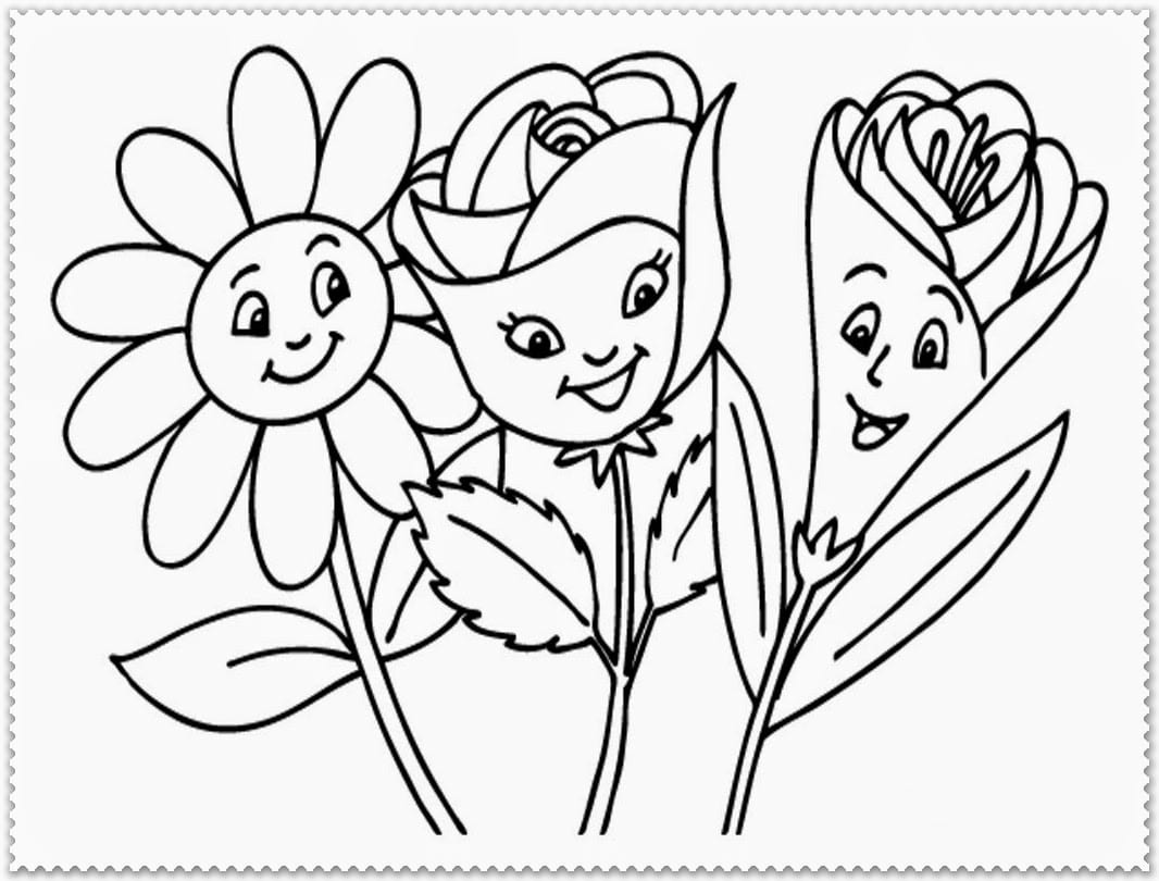 Flower Coloring Pages To Print Out 2258663 7