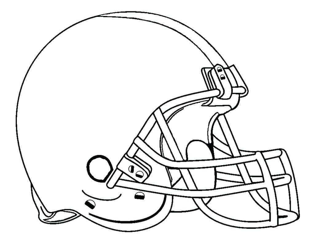 Football Helmet Coloring Page Colouring To Good Pages Draw Print