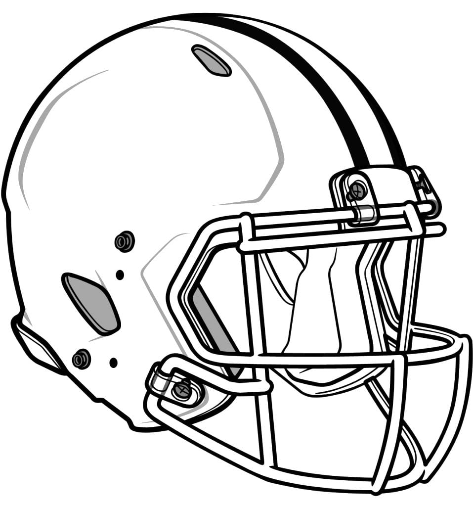 Football Helmet Coloring Pages 6  14824