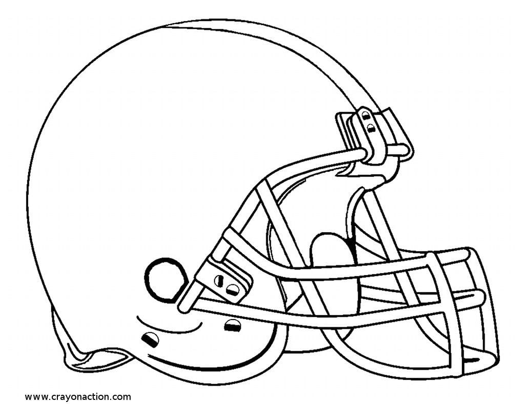 For Football Helmet Coloring Pages