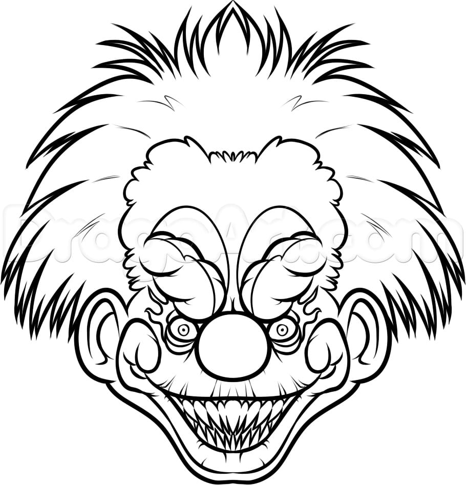 Fortune Clown Pictures To Color Scary Coloring Pages Coloring