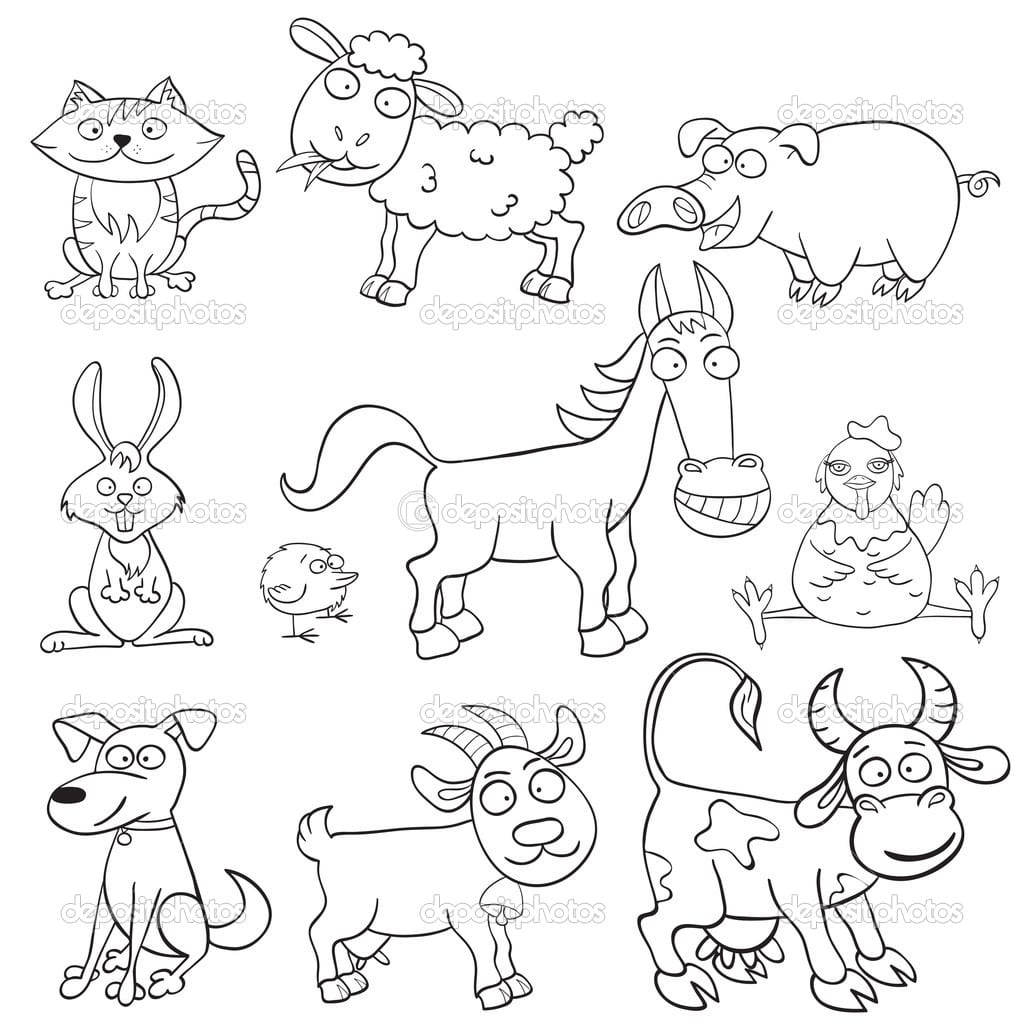 Farm Animals Coloring Pages